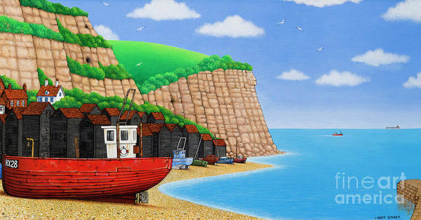Wall Art - Painting - Hastings Beach by Larry Smart