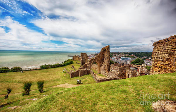 Photograph - Hastings Castle, Town Center In The Background by Ariadna De Raadt