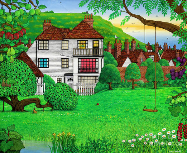 Wall Art - Painting - Hastings East Hill by Larry Smart