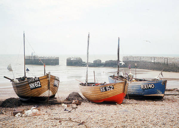 Hastings England Beached Fishing Boats Art Print by Richard Singleton