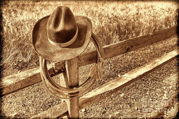 Photograph - Hat And Lariat by American West Legend By Olivier Le Queinec