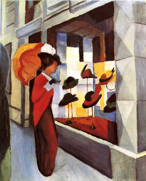 Painting - Hat Shop by August Macke