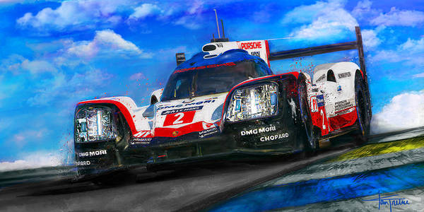 Le Mans Mixed Media - Hat Trick by Alan Greene