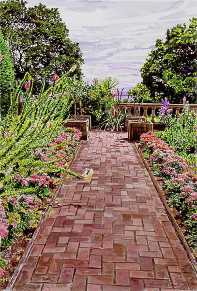 Painting -  Hatley Park Walk by David Lloyd Glover