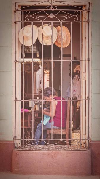 Wall Art - Photograph - Hatmaking In Trinidad Cuba by Joan Carroll