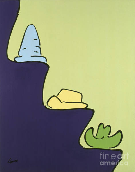 Painting - Hats And Ledges by John Bowers