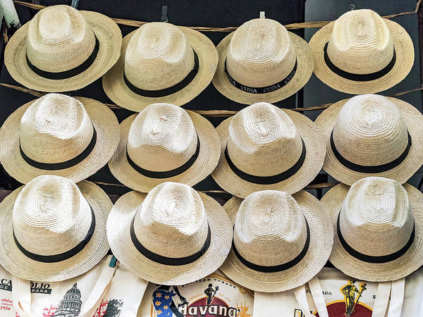 Photograph - Hats For Sale Cuban Style by Robin Zygelman