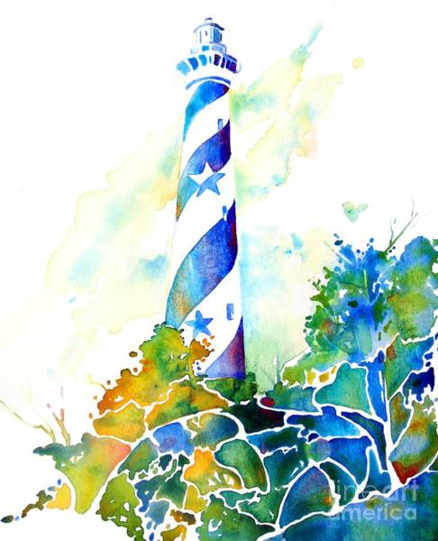 Painting - Hatteras Light House by Jo Lynch