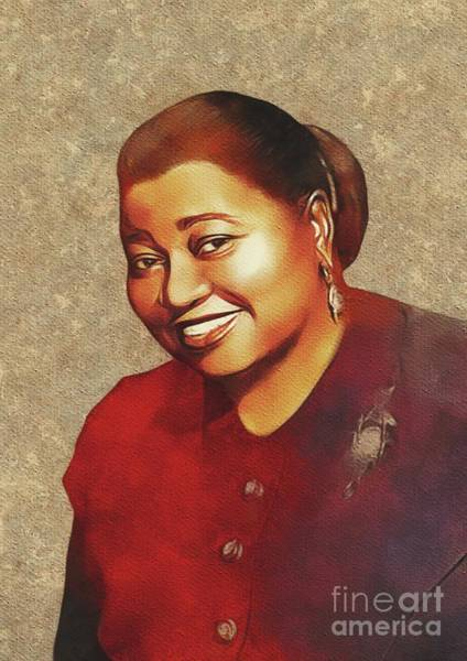 Wall Art - Painting - Hattie Mcdaniel, Hollywood Legend by Mary Bassett