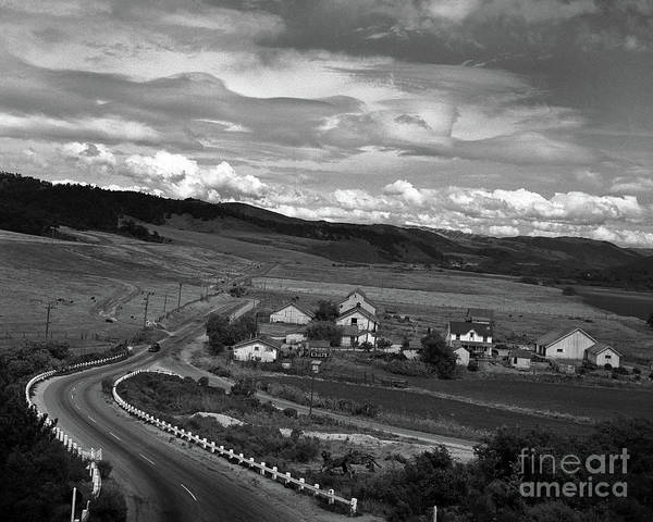 Photograph - Hatton Ranch Carmel Valley From Highway One California  1945 by California Views Archives Mr Pat Hathaway Archives