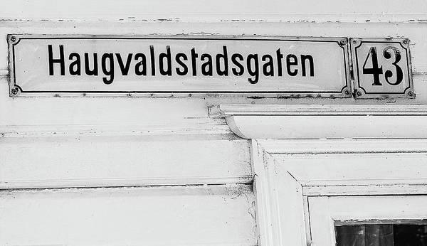 Photograph - Haugvalstadsgaten 43 by Gary Karlsen
