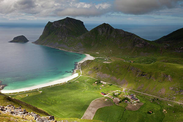 Photograph - Haukland And Vik Beaches From Holandsmelen by Aivar Mikko