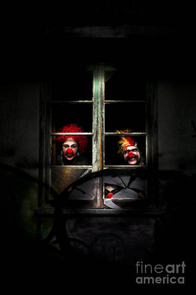 Lurking Photograph - Haunted Clown House by Jorgo Photography - Wall Art Gallery