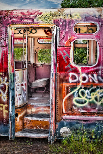 Photograph - Haunted Graffiti Art Bus by Susan Candelario