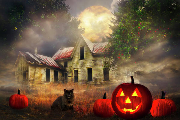 Photograph - Haunted House Under The Apple Tree by Debra and Dave Vanderlaan