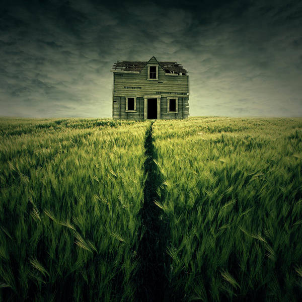 Dark Green Wall Art - Digital Art - Haunted House by Zoltan Toth