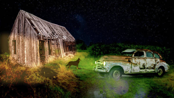 Photograph - Haunted Ol Rusty by Alison Frank