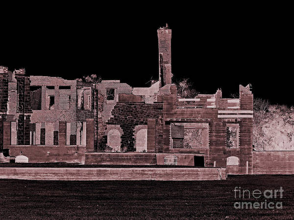 Photograph - Haunted Ruins by D Hackett
