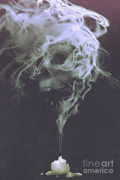 Art Print featuring the painting Haunted Smoke  by Tithi Luadthong