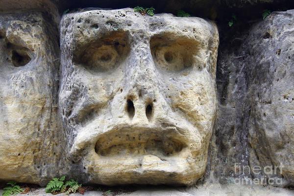 Wall Art - Photograph - Haunted Stone Heads by Michal Boubin