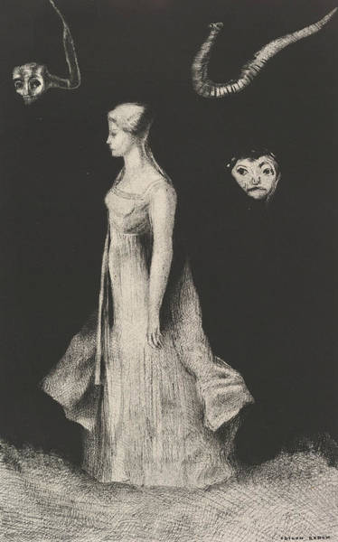 Relief - Haunting by Odilon Redon