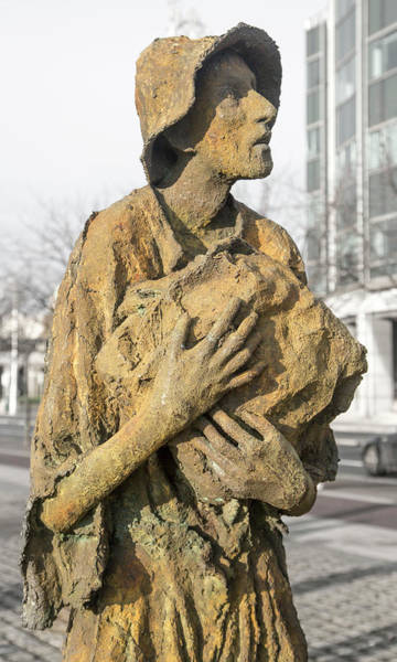 Starving Photograph - Haunting Reality Famine Memorial And World Poverty Stone by Betsy Knapp