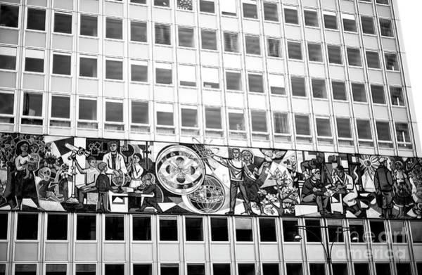 Photograph - Haus Des Lehrers East Berlin Monochrome by John Rizzuto
