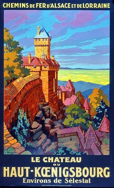 Alsace Wall Art - Painting - Haut Koenigsburg Castle, Alsace, France by Long Shot