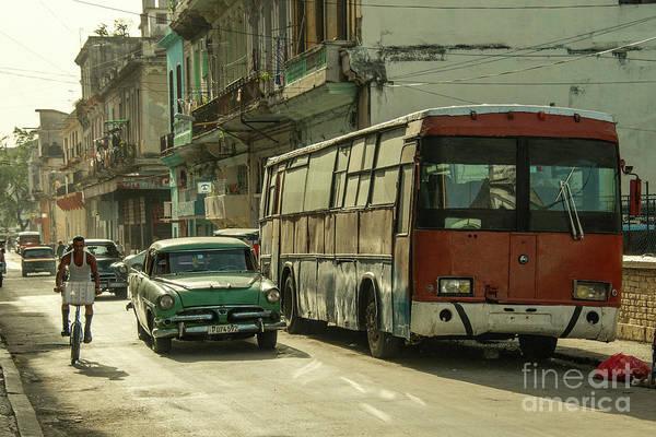 Wall Art - Photograph - Havana Bus  by Rob Hawkins