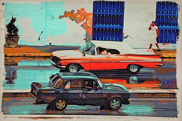 Photograph - Havana Cars Passing by Alice Gipson