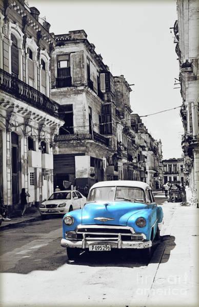 Crumble Photograph - Havana, Cuba - Classic Car by Chris Andruskiewicz