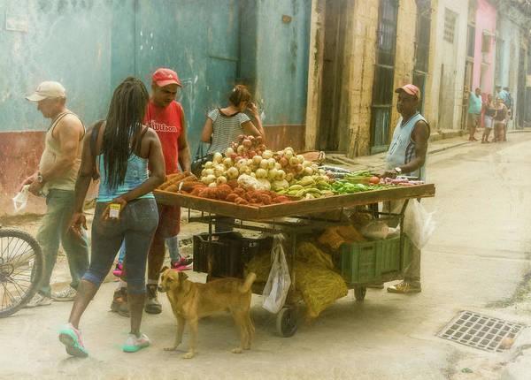 Photograph - Havana Cuba Street Vendor by Joan Carroll