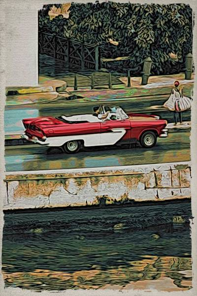 Photograph - Havana Red By Water by Alice Gipson