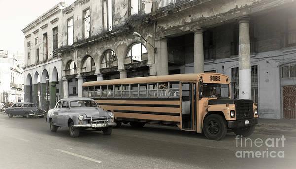Wall Art - Photograph - Havana School Bus  by Rob Hawkins