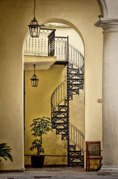 Cuba Photograph - Havana Staircase by Claude LeTien