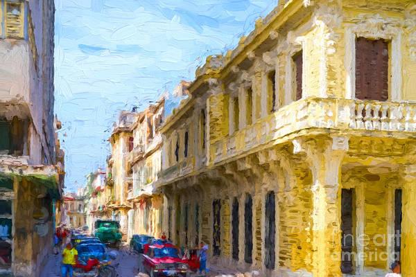 Digital Art - Havana Street by Les Palenik
