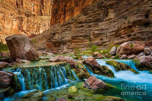 Photograph - Havasu Creek Cascade by Inge Johnsson