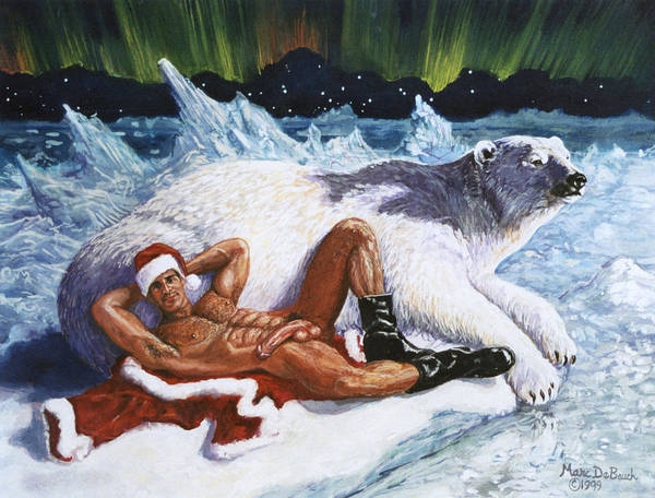 Painting - Have A Beary Merry Christmas by Marc  DeBauch