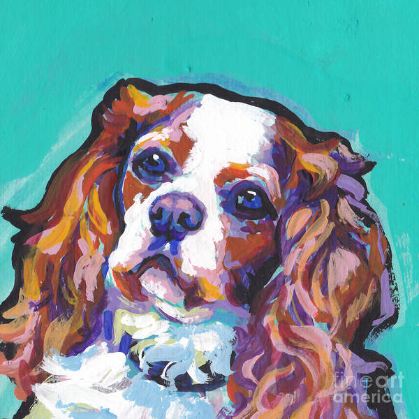King Charles Spaniel Painting - Have A Cav by Lea S