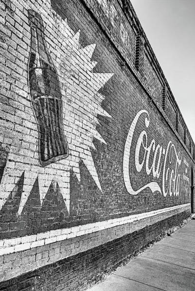 Photograph - Have A Coke In Decatur Texas Black And White by JC Findley
