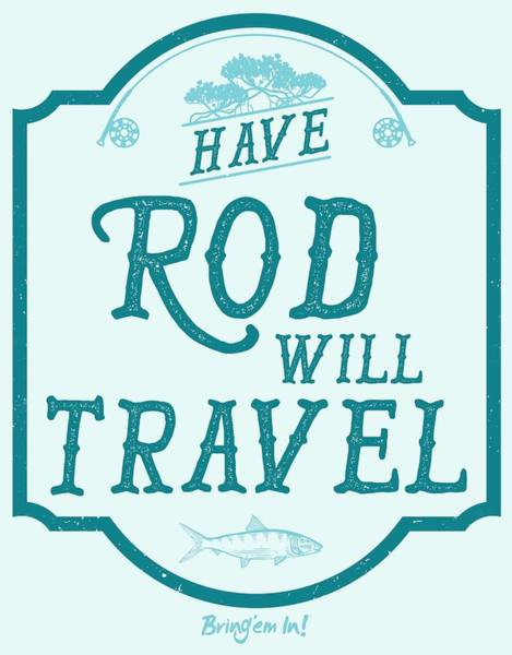 Bahamas Digital Art - Have Rod Will Travel Salty by Kevin Putman