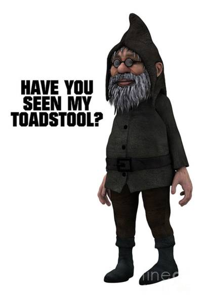 Satan Digital Art - Have You Seen My Toadstool? by Esoterica Art Agency