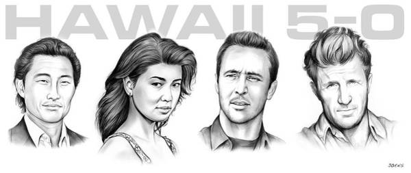 Wall Art - Drawing - Hawaii 5 0 by Greg Joens