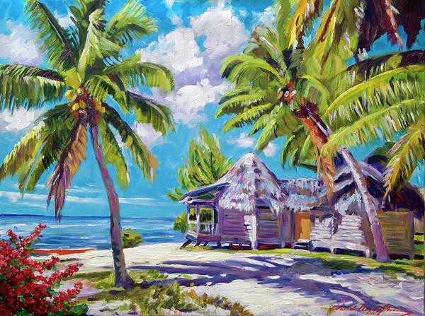 Painting - Hawaii Beach Shack by David Lloyd Glover