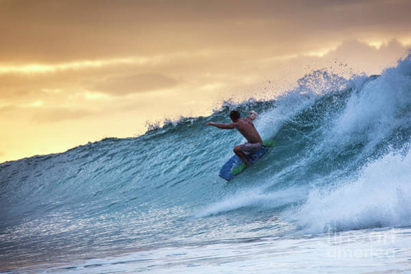 Wall Art - Photograph - Hawaii Bodysurfing Sunset Polihali Beach Kauai  by Dustin K Ryan