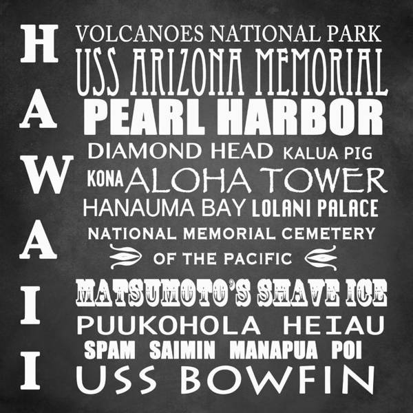 Uss Arizona Wall Art - Digital Art - Hawaii Famous Landmarks by Patricia Lintner