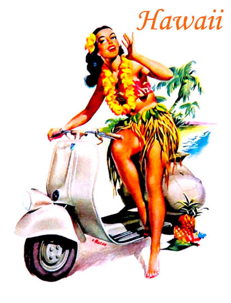 Hula Wall Art - Painting - Hawaii Hula Girl by Long Shot