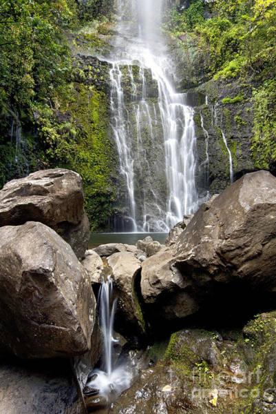 Wall Art - Photograph - Hawaii, Maui, A View Of Wailua Falls by Jenna Szerlag
