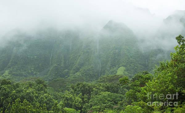 Photograph - Hawaii Mountain Waterfalls by Charmian Vistaunet