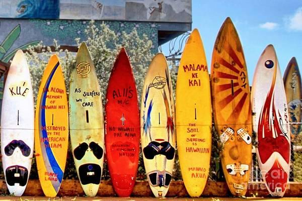 Surfboard Fence Photograph - Hawaii Surfboard Fence by DJ Florek